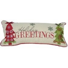 Holiday Greetings-8X18 Pillow