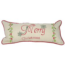 Merry Christmas with Holly-8X18 Pillow