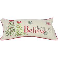 Believe with Christmas Tree-8X18 Pillow