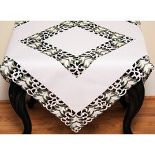 Tannenbaum Embroidered Cutwork Holiday Table Topper