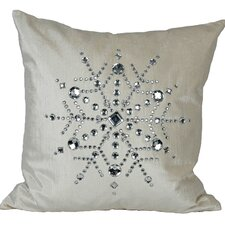 Bejeweled Snowflake Pillow