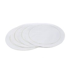 <strong>Xia Home Fashions</strong> Melrose Cutwork Hemstitch Round Placemat (Set of 4)
