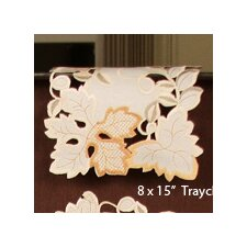 Autumn Forest Cutwork Embroidered Tray Cloth