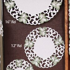 <strong>Xia Home Fashions</strong> Tannenbaum Embroidered Cutwork Holiday Placemat (Set of 4)