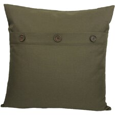 Solid Color with Buttons Polyester Fill Pillow