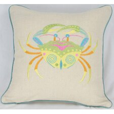 <strong>Manor Luxe</strong> Archipelago Crab Cotton Pillow