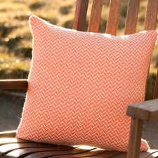 Tangerine Alpaca Throw Pillow