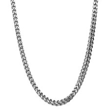 Stainless Steel Thick Foxtail Chain Link Necklace