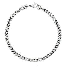 Thin Foxtail Chain Link Bracelet
