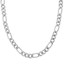 Stainless Steel Figaro Link Necklace