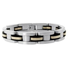 Rubber Inlay Link Bracelet