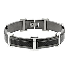 Carbon Inlay Link Bracelet
