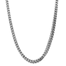 Stainless Steel Thin Foxtail Chain Link Necklace