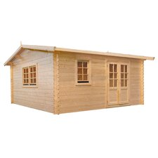 "Aspen 12'5.6"" W x 9'9.3"" D Solid Wood Garden Shed"