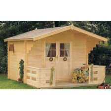 "Douglas 9'9"" W x 8'2"" D Solid Wood Garden Shed"