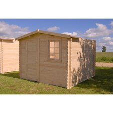 "Optima 9'9"" W x 9'9"" D Solid Wood Garden Shed"