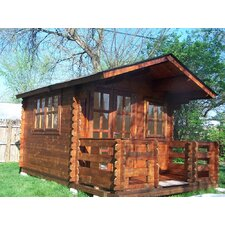 """Wales 9'9"""" W x 9'9"""" D Solid Wood Garden Shed"""
