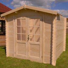 Optima 7ft. W x 7ft. D Solid Wood Garden Shed