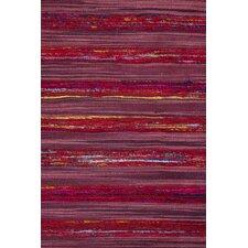 Sari Silk Red/Purple Area Rug