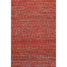 Sari Silk Dark Red Area Rug