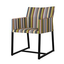 Stripe Dining Arm Chair in Vertical Stripes