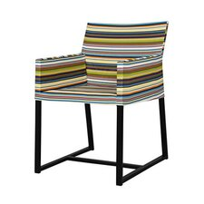 <strong>Mamagreen</strong> Stripe Dining Arm Chair in Horizontal Stripes