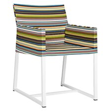 Stripe Dining Arm Chair in Horizontal Stripes