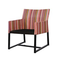 Stripe Casual Chair with Cushion