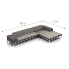 Jane 2 Piece Sectional with Cushions