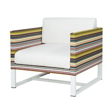 Stripe 1-Seater Sofa with Cushion