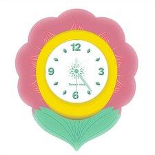 """12"""" Kiddie Klik Klock Flower Wall Clock"""
