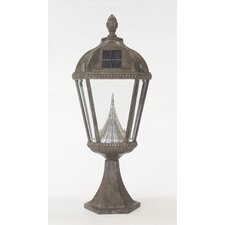 Royal Seven-LED Solar Light Fixture on Flat Pier Base