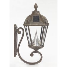 Royal Seven-LED Solar Light Fixture on Wall Sconce