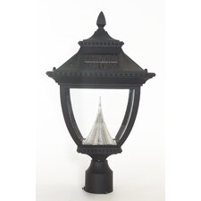<strong>GamaSonic</strong> Pagoda 1 Light Solar Post Lantern