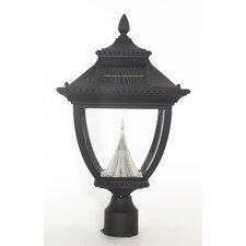 Pagoda Eight-LED Solar Light Fixture on Three-Inch-Diameter Pole Fitter