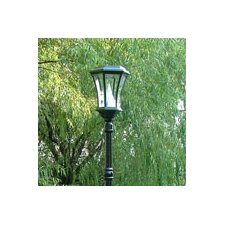 Victorian Solar Lamp Post and Nine-LED Lantern