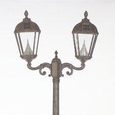 Royal Solar Lamp Post and Two Seven-LED Lanterns