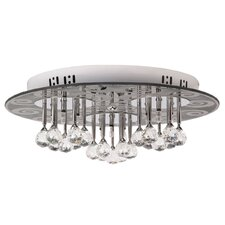 Crystal 3 Light Flush Mount