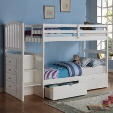Donco Kids Twin Standard Bunk Bed with Underbed Drawer