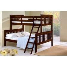 Donco Kids Twin Over Full Mission Bunk Bed with Tilt Ladder