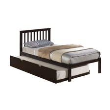 Mission Slat Bed with Twin Trundle