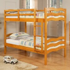 Wave Twin over Twin Bunk Bed with Built-In Ladder