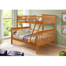 <strong>Donco Kids</strong> Twin over Full Bunk Bed with Built-In Ladder