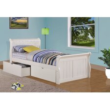Sleigh Bed with Dual Underbed Drawers