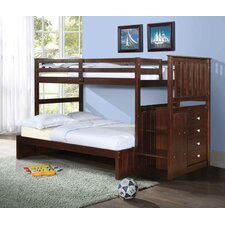 Twin / Full Standard Bunk Bed with Stairway
