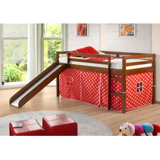 <strong>Donco Kids</strong> Twin Tent Loft Bed with Slide