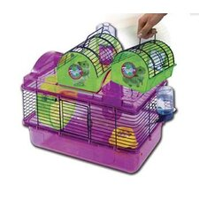 Here and There Small Animal Habitat Modular with Wheel and Water Bottle