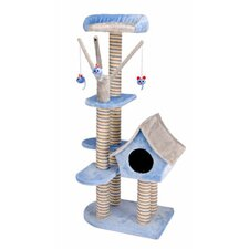 <strong>Penn Plax</strong> Deluxe Cat Cottage with Lounging Tower in Blue/Gray