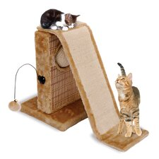 "12.5"" Activity Center with Sisal Slide and Bamboo Rubbing Post Cat Tree"