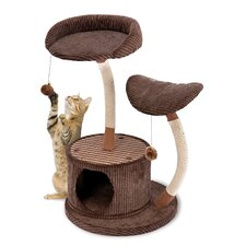 "35"" Lounge Activity Center with Retreat Hide-Away Cat Tree"